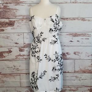 Embroidered Dress J Crew Factory White NWT 14